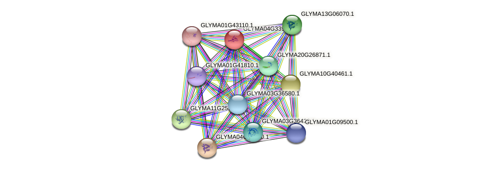 GLYMA04G33900.1 protein (Glycine max) - STRING interaction network