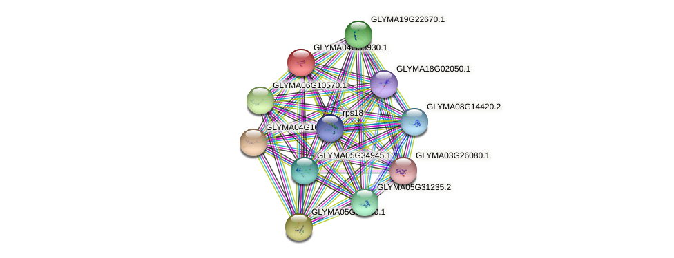 GLYMA04G33930.1 protein (Glycine max) - STRING interaction network