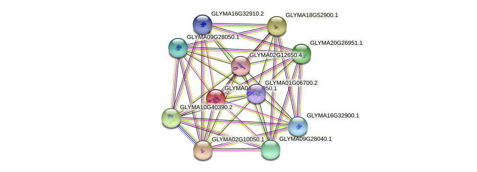 GLYMA04G38050.1 protein (Glycine max) - STRING interaction network