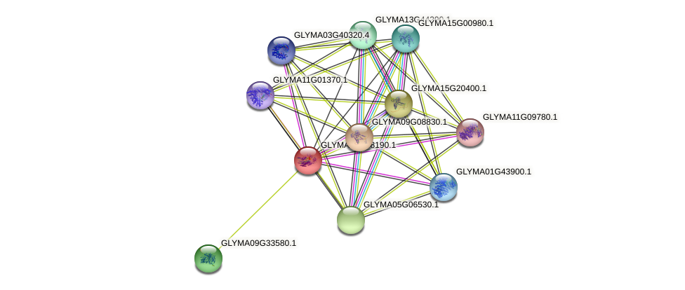 GLYMA04G38190.1 protein (Glycine max) - STRING interaction network