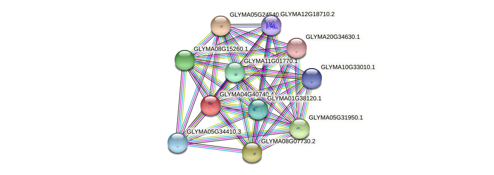 GLYMA04G40740.4 protein (Glycine max) - STRING interaction network