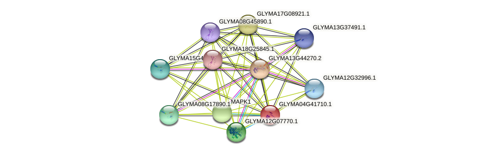 GLYMA04G41710.1 protein (Glycine max) - STRING interaction network