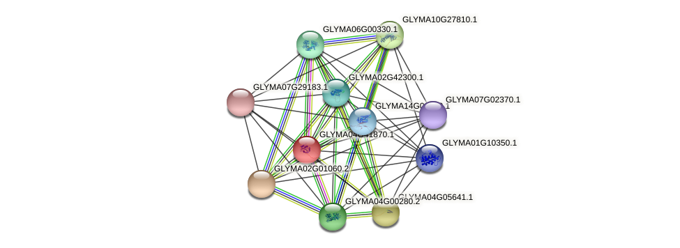 GLYMA04G41870.1 protein (Glycine max) - STRING interaction network