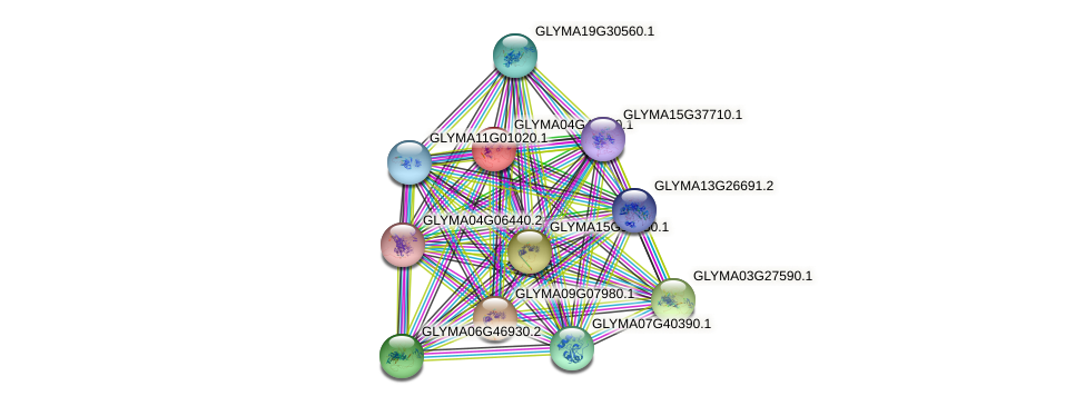 GLYMA04G42000.1 protein (Glycine max) - STRING interaction network