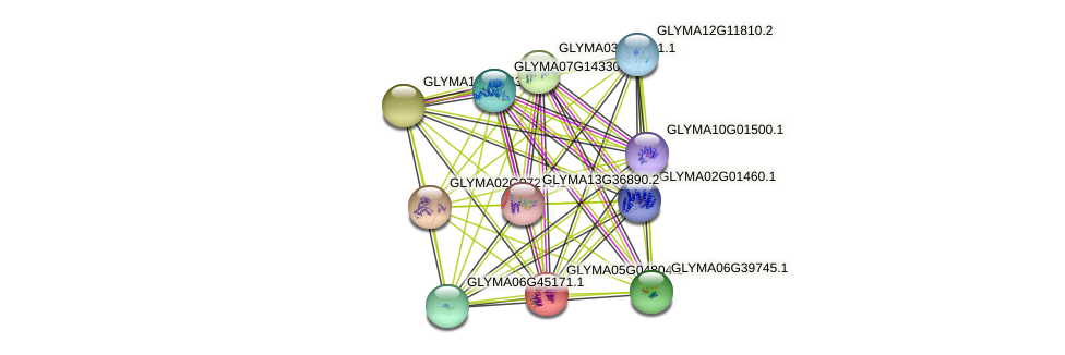 GLYMA05G04804.1 protein (Glycine max) - STRING interaction network