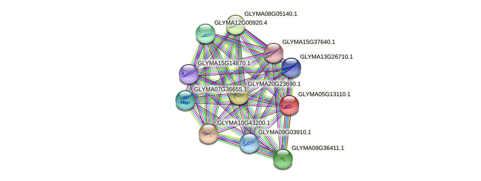 GLYMA05G13110.1 protein (Glycine max) - STRING interaction network