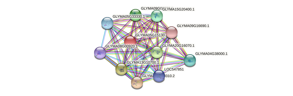 GLYMA05G15130.1 protein (Glycine max) - STRING interaction network