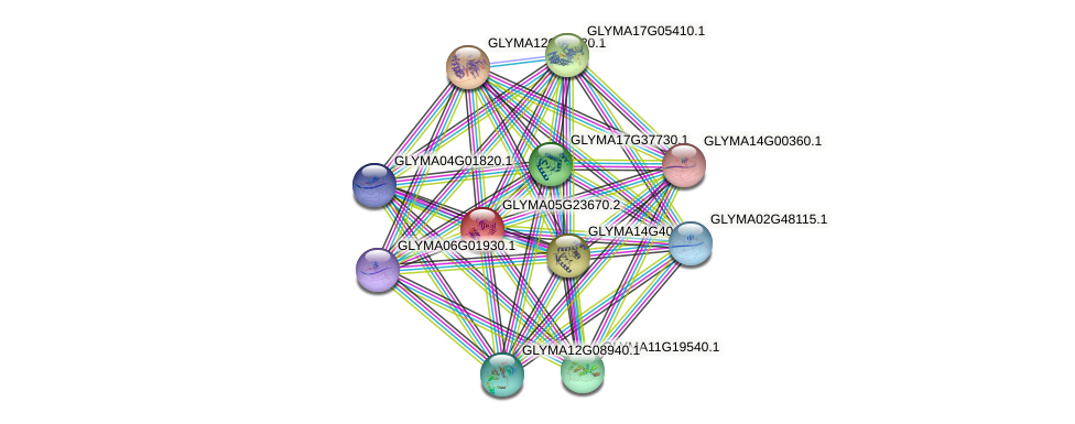 GLYMA05G23670.2 protein (Glycine max) - STRING interaction network