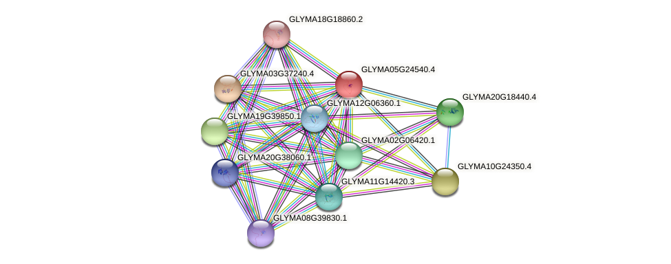 GLYMA05G24540.3 protein (Glycine max) - STRING interaction network