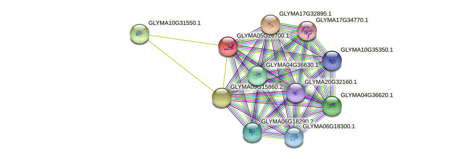 GLYMA05G26700.1 protein (Glycine max) - STRING interaction network