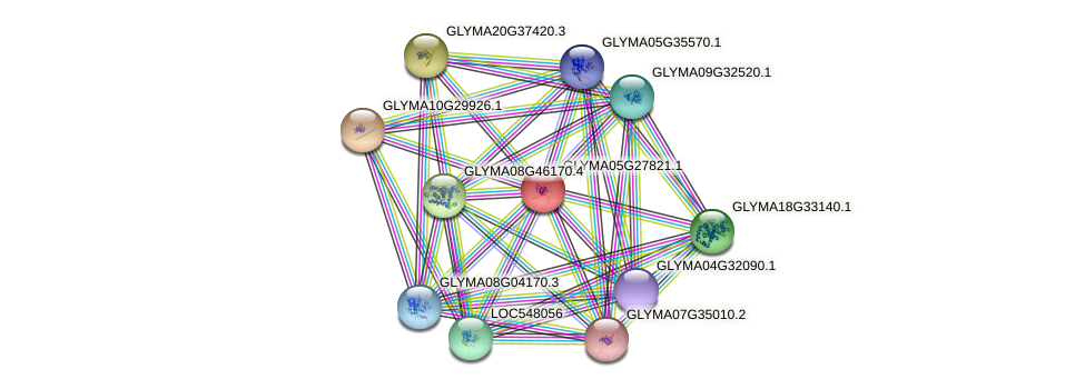 GLYMA05G27821.1 protein (Glycine max) - STRING interaction network