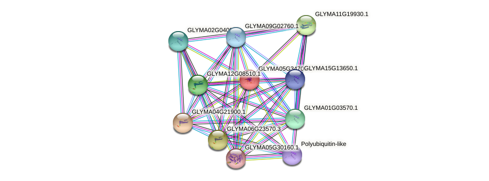 GLYMA05G34700.1 protein (Glycine max) - STRING interaction network