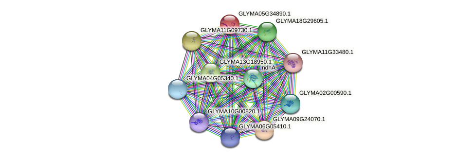 GLYMA05G34890.1 protein (Glycine max) - STRING interaction network