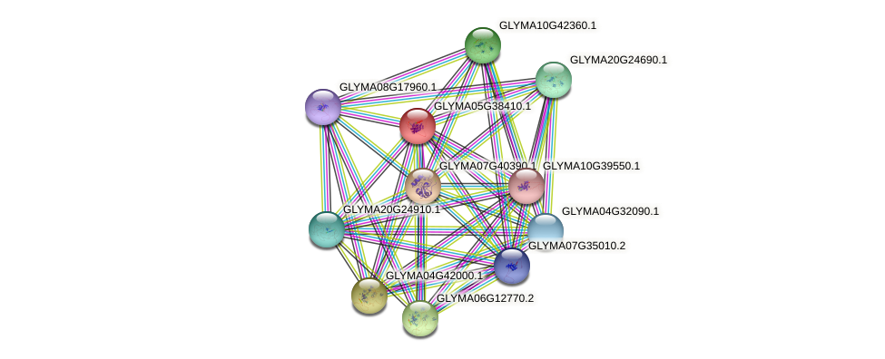 GLYMA05G38410.1 protein (Glycine max) - STRING interaction network