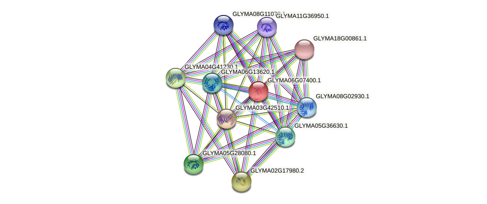 GLYMA06G07400.1 protein (Glycine max) - STRING interaction network