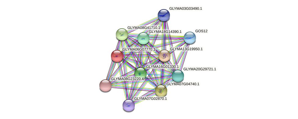 GLYMA06G07770.1 protein (Glycine max) - STRING interaction network