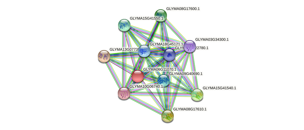 GLYMA06G11070.1 protein (Glycine max) - STRING interaction network