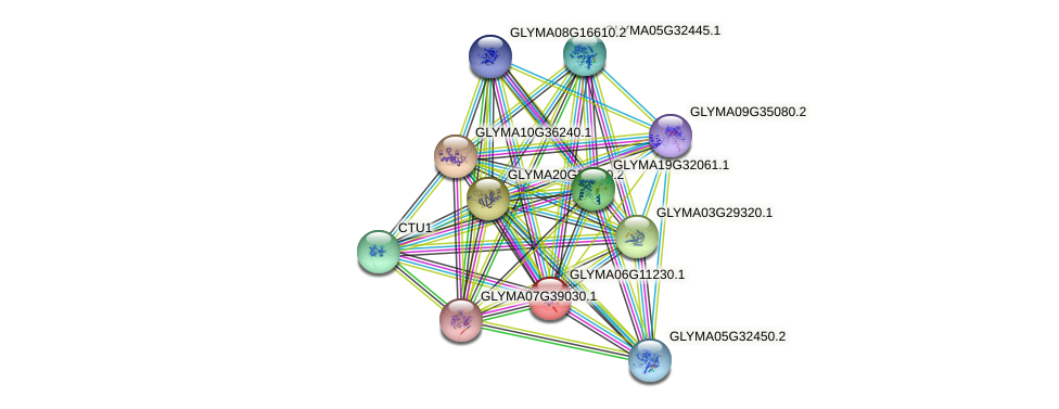 GLYMA06G11230.1 protein (Glycine max) - STRING interaction network