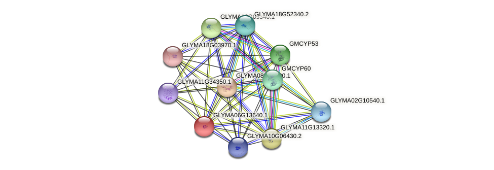 GLYMA06G13640.1 protein (Glycine max) - STRING interaction network