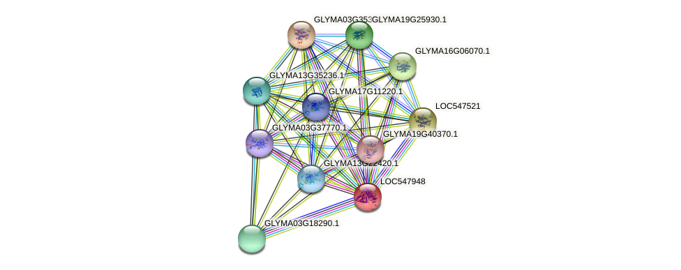 LOC547948 protein (Glycine max) - STRING interaction network