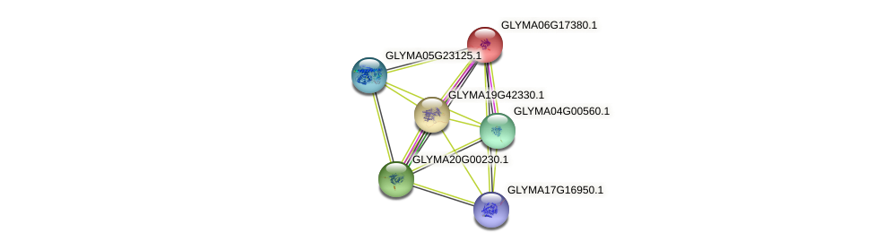 GLYMA06G17380.1 protein (Glycine max) - STRING interaction network