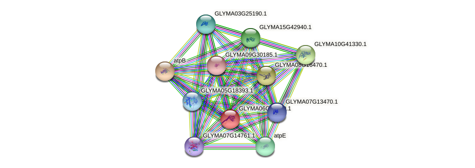 GLYMA06G22050.1 protein (Glycine max) - STRING interaction network