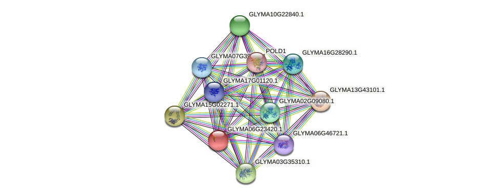 GLYMA06G23420.1 protein (Glycine max) - STRING interaction network
