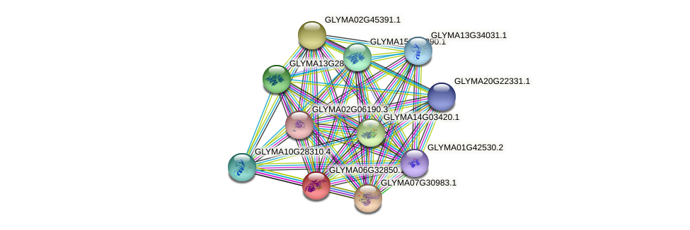 GLYMA06G32850.1 protein (Glycine max) - STRING interaction network
