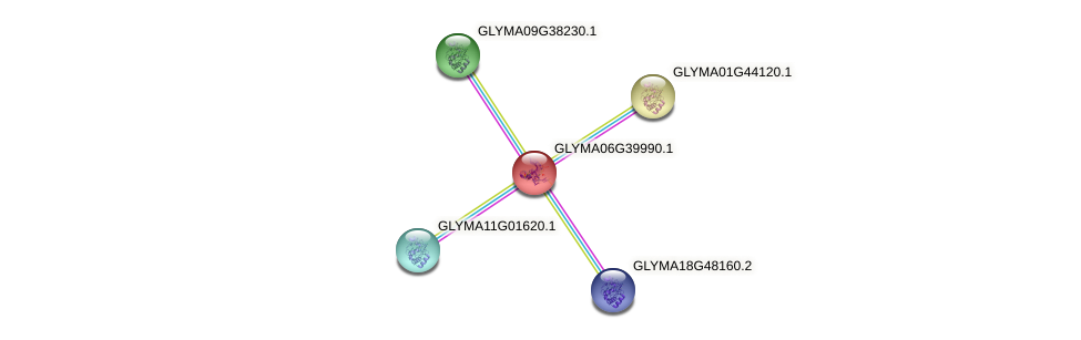 GLYMA06G39990.1 protein (Glycine max) - STRING interaction network