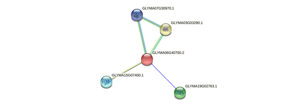 GLYMA06G40750.2 protein (Glycine max) - STRING interaction network