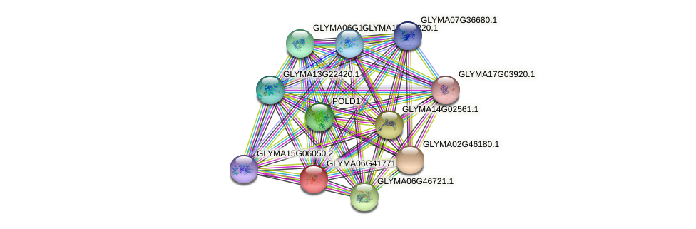 GLYMA06G41771.1 protein (Glycine max) - STRING interaction network