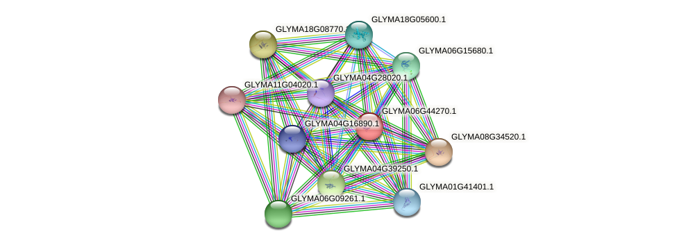 GLYMA06G44270.1 protein (Glycine max) - STRING interaction network