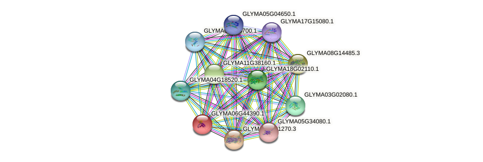 GLYMA06G44390.1 protein (Glycine max) - STRING interaction network