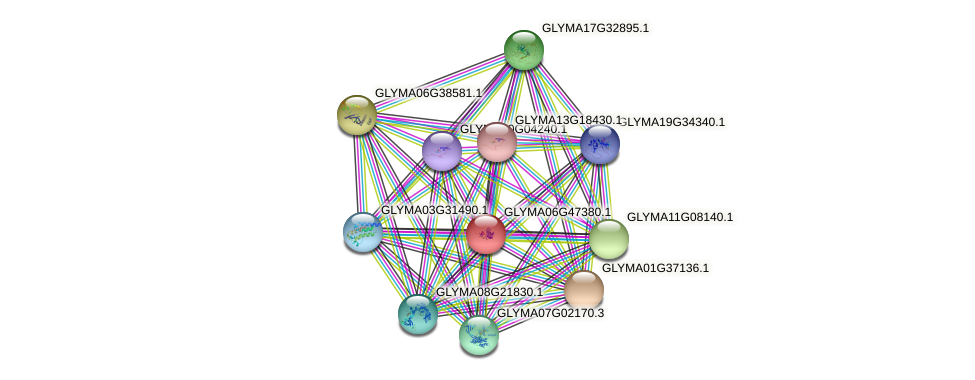 GLYMA06G47380.1 protein (Glycine max) - STRING interaction network