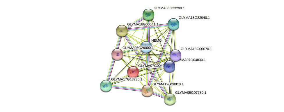 GLYMA07G00410.1 protein (Glycine max) - STRING interaction network