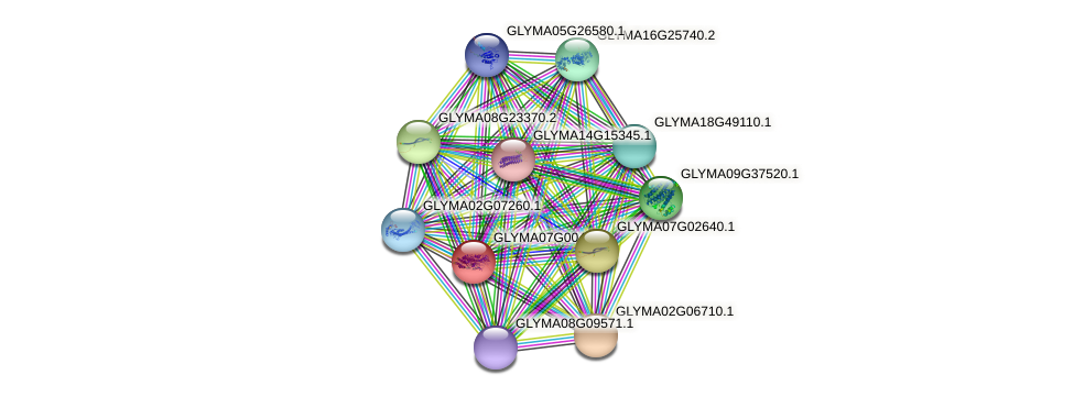 GLYMA07G00430.1 protein (Glycine max) - STRING interaction network