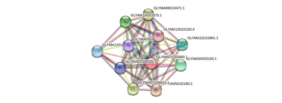 GLYMA07G03660.1 protein (Glycine max) - STRING interaction network