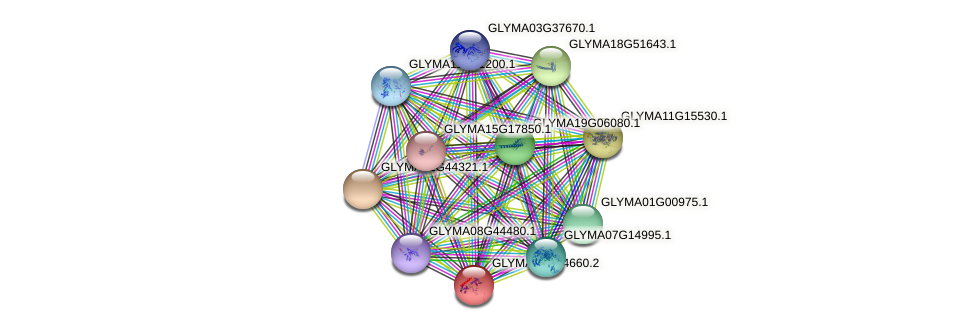 GLYMA07G04660.2 protein (Glycine max) - STRING interaction network