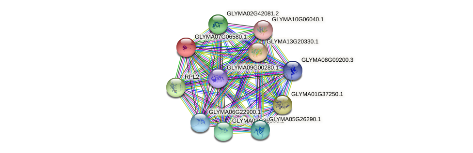 GLYMA07G06580.1 protein (Glycine max) - STRING interaction network