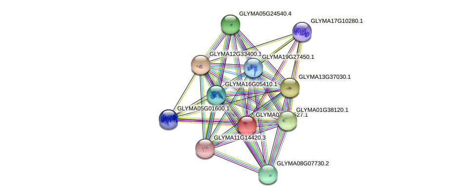 GLYMA07G08527.1 protein (Glycine max) - STRING interaction network
