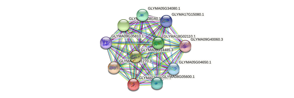 GLYMA07G08700.1 protein (Glycine max) - STRING interaction network