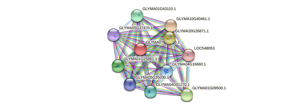 GLYMA07G10920.2 protein (Glycine max) - STRING interaction network