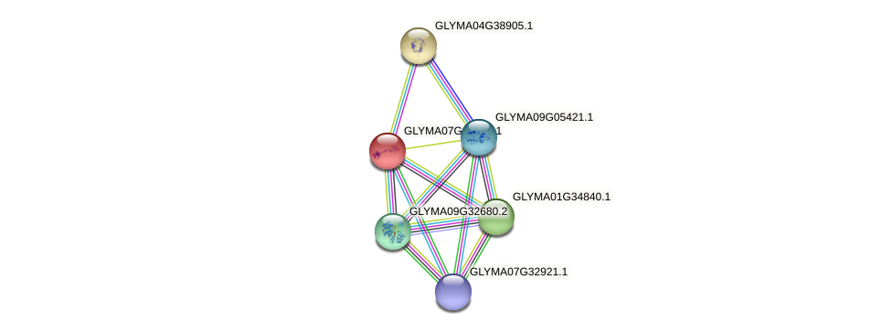 GLYMA07G16270.1 protein (Glycine max) - STRING interaction network