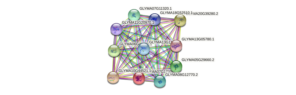 GLYMA07G17310.1 protein (Glycine max) - STRING interaction network