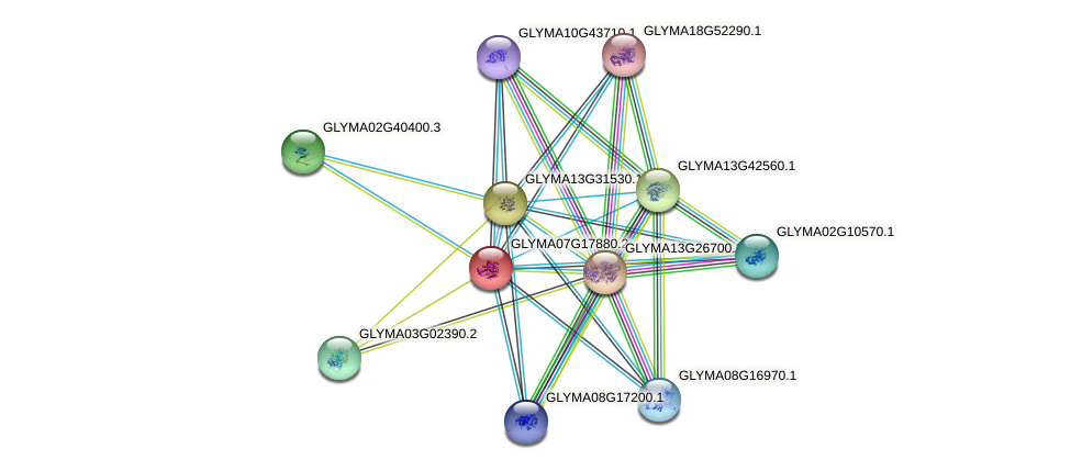 GLYMA07G17880.2 protein (Glycine max) - STRING interaction network