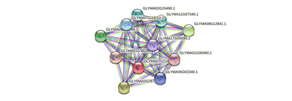 GLYMA07G21671.1 protein (Glycine max) - STRING interaction network