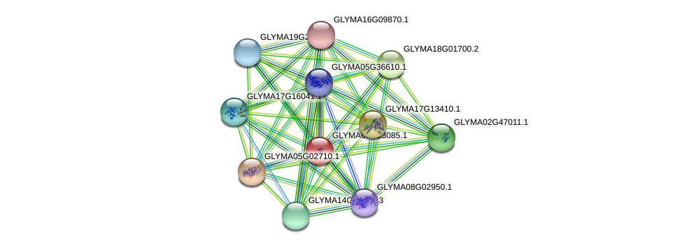 GLYMA07G23085.1 protein (Glycine max) - STRING interaction network