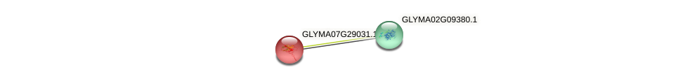 GLYMA07G29031.1 protein (Glycine max) - STRING interaction network