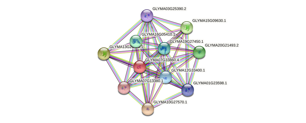 GLYMA07G33860.3 protein (Glycine max) - STRING interaction network