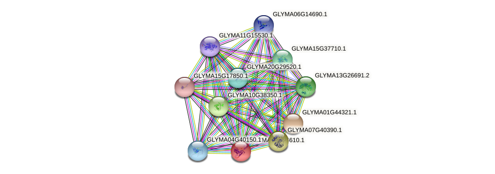 GLYMA07G34610.1 protein (Glycine max) - STRING interaction network